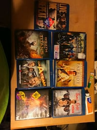 assorted Blu-ray movie cases