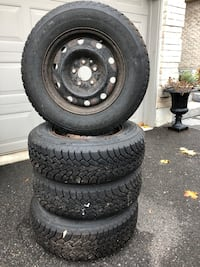 GoodYear Nordic Winter Tires on Rims : 205/70 R15. Barrie, L4N 8R8