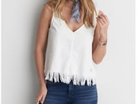 American Eagle Outfitters White Denim Tank Oakville, L6M 4B7
