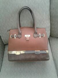 brown leather tote bag Belvidere, 07823