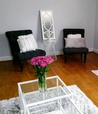 white and black wooden armchair Prince George's County, 20746