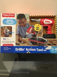Fisher-Price Drillin' Action Tool set box