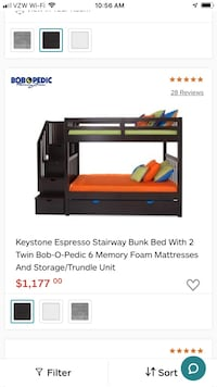Great Bunk bed, originally from Bobs Furniture  Swampscott, 01907