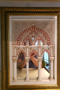 Framed textured art of the Alhambra Palace Herndon, 20171