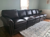 NEW Pottery Barn REAL Leather Sectional Pieces $1,250 Alexandria