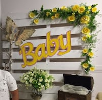 Baby shower painted & decorated crate board Edmonton, T6L 1V8