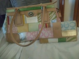 Coach multi pattern purse with matching wallet