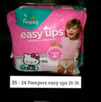24 Pampers Easy Ups size 2t-3t Laredo, 78046