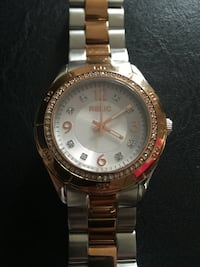 Silver and gold round Relic analog watch with link bracelet Las Vegas, 89141