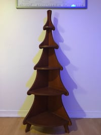 brown wooden table lamp base