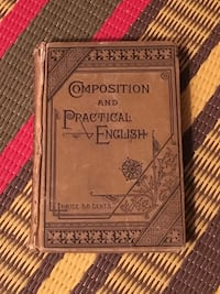 Rare Composition and Practical English 1887 Canadian textbook  Toronto, M2M 2A3