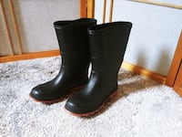 Canada black rain boots for kids, length of foot 22cm Woodstock