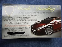 Movile Detailing business card