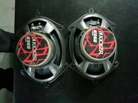 two black-and-red coaxial speakers Hammond, 46327