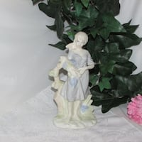"Vintage 8"" Tall Figurine Girl with Grapes  Mississauga"