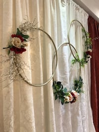 Set of 3 custom made decorative floral hoops Caledon, L7C