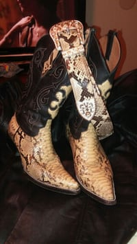 pair of brown-and-black cowboy boots McAllen, 78504