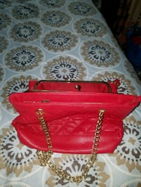 quilted red leather totebag 2064 mi