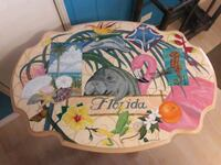 Florida table hand painted by myself