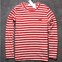 red and white stripe sweater