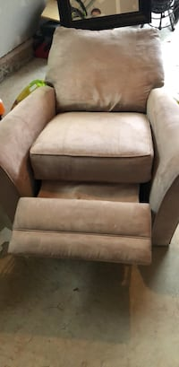 beige fabric sofa chair with ottoman Aldie, 20105