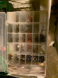 Fishing poles and tackle boxes