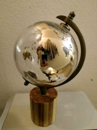 Large clear glass globe with gold Great Falls, 59401