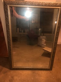 rectangular brown wooden framed mirror Silver Spring, 20904