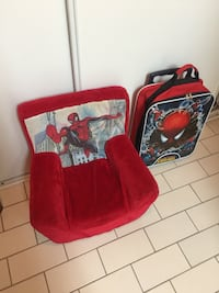 Spider-Man plush mini sofa chair for toddler kids and Spider-Man luggage bag EUC Toronto, M1J 2E5