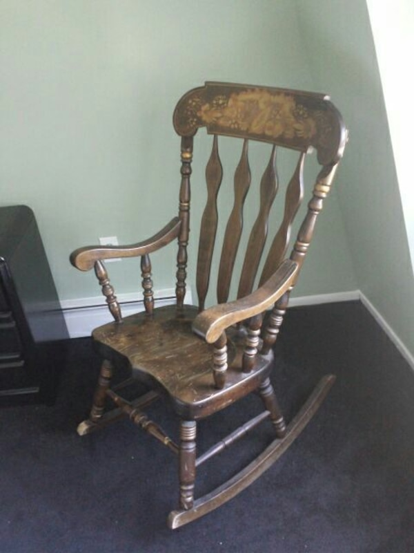 Used Antique Wooden Rocking Chair For Sale In Toms River Letgo