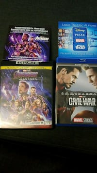 Avengers movie codes and end game bluray$CND Surrey, V3W 5E6