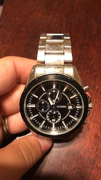 round silver chronograph watch with link bracelet San Tan Valley, 85143