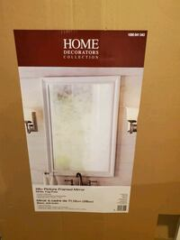 28inch Picture Framed White Mirror  (Home Decorator Collection)