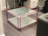 Antique glass coffee table  Westmount, H3Z 1J2