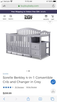 Convertible Crib w/ changing table Largo, 20774