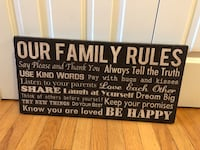 Our Family Rules Canvas Print Wall Art Home Decor