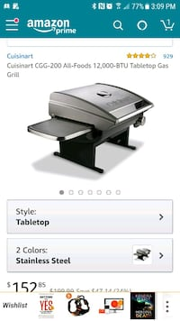 Cuisinart table top grill plus stand