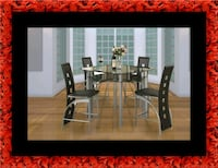 Counter height glass dining table with 4 chairs Washington, 20002