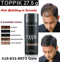 Toppik Touch Up Fibers  Mississauga, L4Z