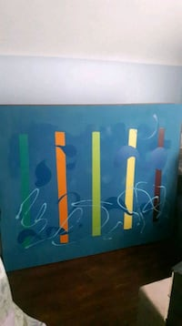 yellow and blue abstract painting St. Catharines, L2M 5R3