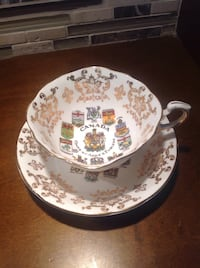 Canada Coats of Arms & Emblems China Tea Cup & Saucer by Paragon Bolton, L7E 1X7
