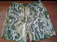 (2) PAIR TOMMY BAHAMA BOARD SHORTS / SWIM TRUNKS,  Manteca