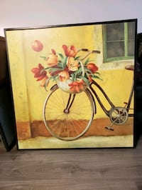 Large oil canvas with wood frame