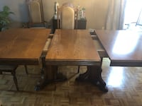 Wood dining room set Vaughan
