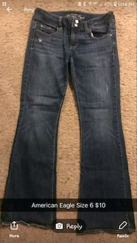 blue-washed denim jeans Cedar Falls, 50613