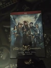 Disney Pirates of Caribbean Dead Men Tell No Tales DVD case Shively, 40216