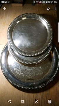 silver plated trays