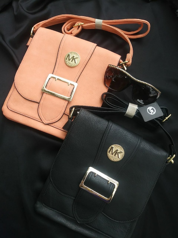 90695df57bc2 Used peach and black leather Michael Kors sling bag for sale in Bristol -  letgo