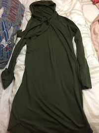 Green hoodie dress size M Coquitlam, V3J 6K4