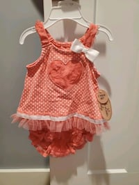 6/9 Month dress with diaper cover